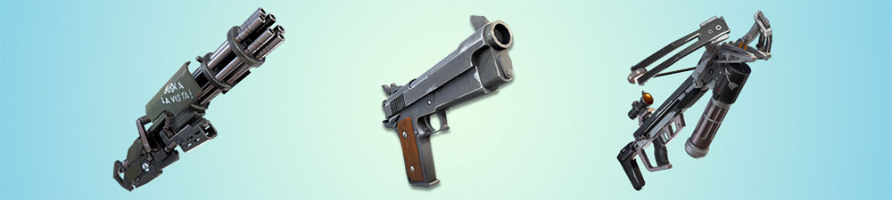 Types of weapons in Fortnite