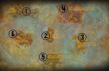 WoW Shadowlands Leveling Guide Map