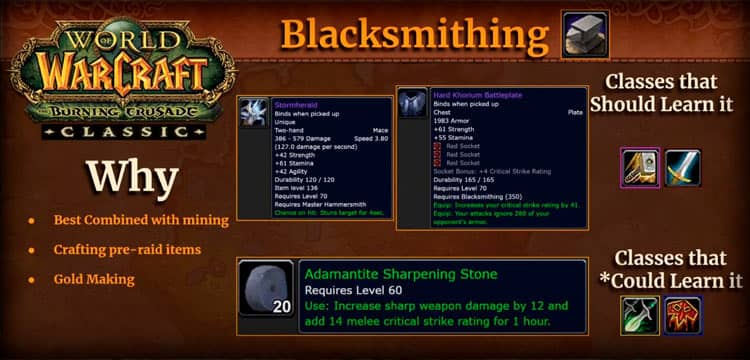 Blacksmithing in WoW TBC Classic