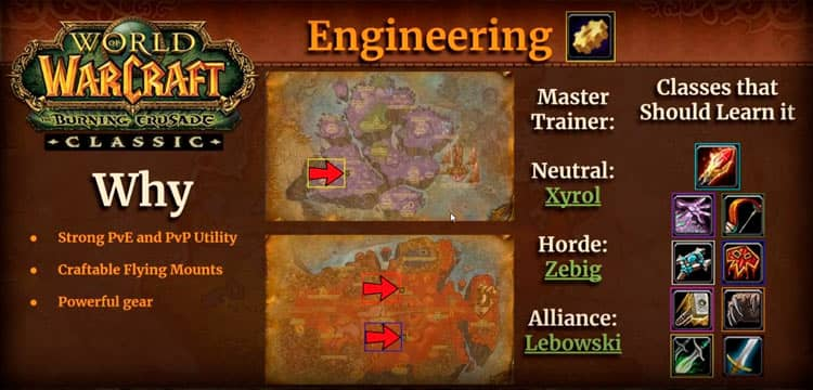 WoW Engineering Profession in TBC