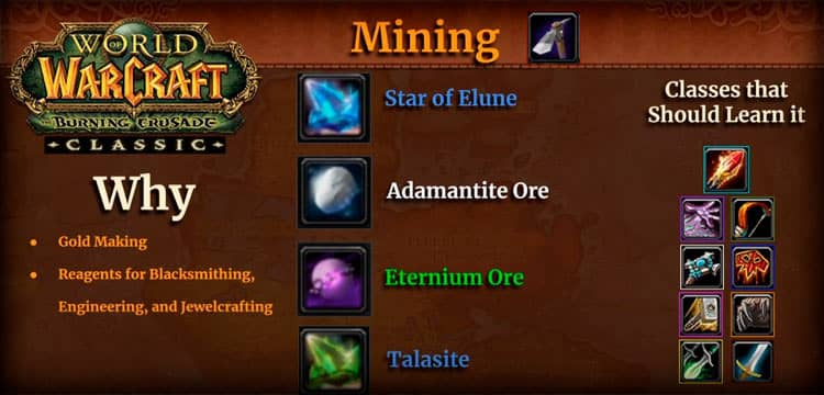 Mining in World of Warcraft TBC Classic