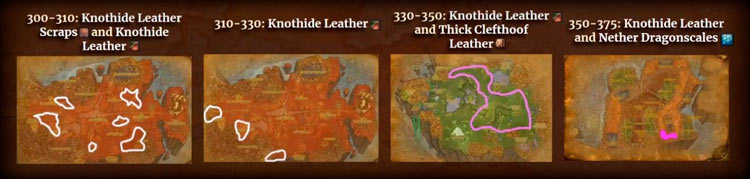 Skinning Leveling Zones in TBC Classic