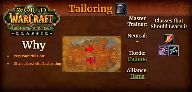 Tailoring Profession WoW TBC
